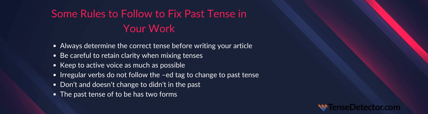 tips on fix past tense