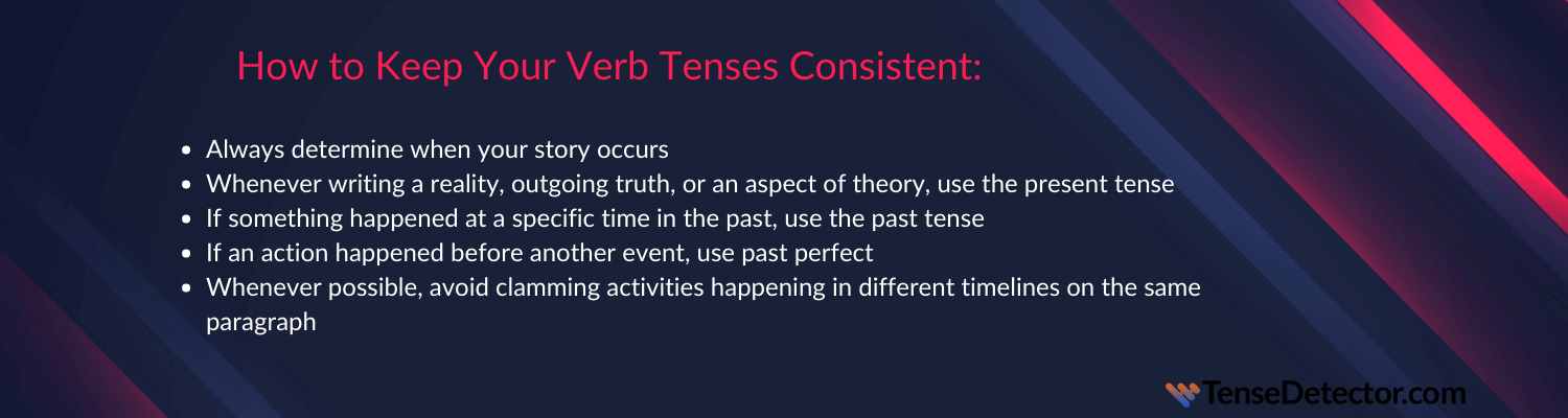 tips on how to spot verb tense consistency